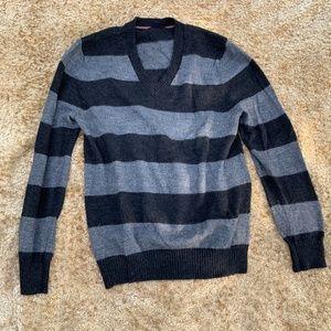 Banana Republic Men's Striped Sweater Italian Yarn